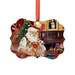 Santa's 2 Corgis (P2) Picture Ornament