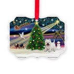 Xmas Magic & Westie Picture Ornament