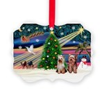 XmasMagic/2 Yorkies Picture Ornament