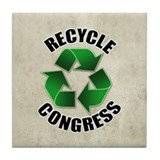 Recycle Congress Tile Coaster