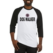 Dog Walker Pink Stripes Baseball Jersey