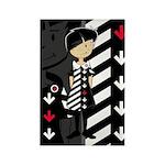 Cool Mod Girl Rectangle Magnet (100 pack)