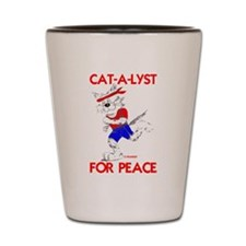 CAT-A-LYST for peace Shot Glass