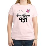 Fort Wayne Indiana Butterfly T-Shirt