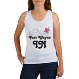Fort Wayne Indiana Butterfly Women's Tank Top