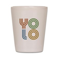 Retro YOLO-You Only Live Once Shot Glass
