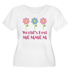 Best MomMom Flower T-Shirt