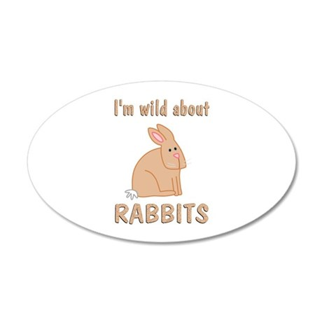 Wild About Rabbits 35x21 Oval Wall Decal