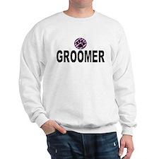 Groomer Purple Stripes Sweatshirt