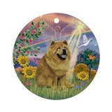 Cloud Angel - Chow Chow (ms) Ornament (Round)