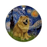 Starry Night - Chow Chow (ms) Ornament (Round)
