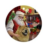 Santa's Chow Chow (ms) Ornament (Round)