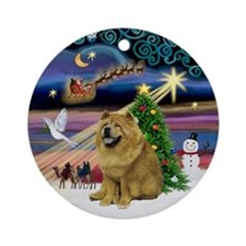 XmasMagic-ChowChow (ms) Ornament (Round)