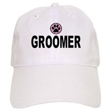 Groomer Pink Stripes Baseball Cap