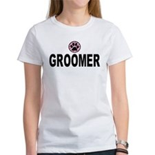 Groomer Pink Stripes Tee