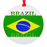 Brazilblack.png Round Ornament