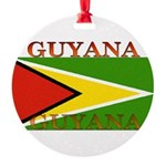 Guyana.jpg Round Ornament