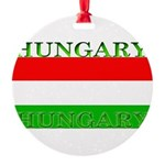 Hungary.jpg Round Ornament