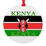 Kenyablack.png Round Ornament