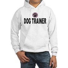 Dog Trainer Pink Stripes Hoodie