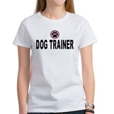 Dog Trainer Pink Stripes Tee