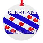 Frieslandblack.png Round Ornament