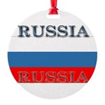 Russiablack1.png Round Ornament