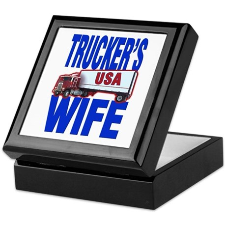"""Trucker's Wife"" Keepsake Box"
