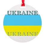 Ukraine.jpg Round Ornament