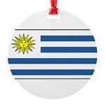 Uruguayblank.png Round Ornament