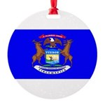 Michiganblank.png Round Ornament