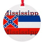 Mississippi.png Round Ornament
