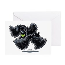 Black Cocker Spaniel Play Greeting Cards (Pk of 10