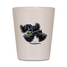 Black Cocker Spaniel Play Shot Glass