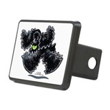 Black Cocker Spaniel Play Rectangular Hitch Cover