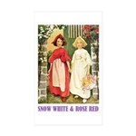 Snow White & Rose Red Sticker (Rectangle 10 pk)