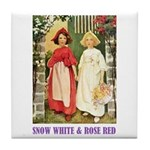 Snow White & Rose Red Tile Coaster