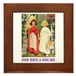 Snow White & Rose Red Framed Tile