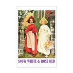 Snow White & Rose Red Mini Poster Print