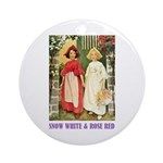 Snow White & Rose Red Ornament (Round)