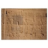 Close-up of carvings on a wall, Temple Of Philae,