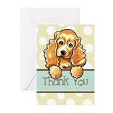 Cocker Spaniel Polka Dot Thank You Greeting Cards