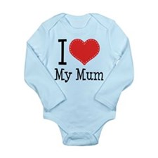 I Heart My Mum Long Sleeve Infant Bodysuit