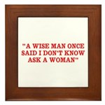 wise man merchandise Framed Tile