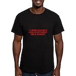 wise man merchandise Men's Fitted T-Shirt (dark)