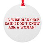 wise man merchandise Round Ornament