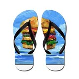 Cheeseburger in the Tropics Flip Flops