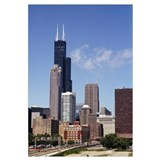Low angle view of buildings, Sears Tower, Chicago,