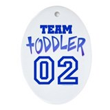 Team Toddler Oval Ornament