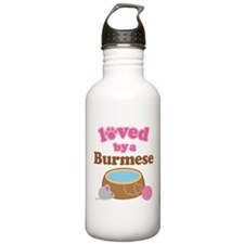 Loved By Abyssinian Cat Water Bottle